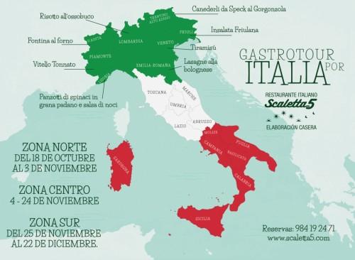 Gastrotour por Italia en Scaletta5