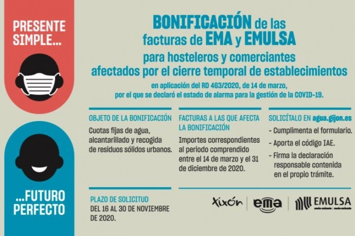 Reabierto el plazo de bonificaciones de la EMA y EMULSA