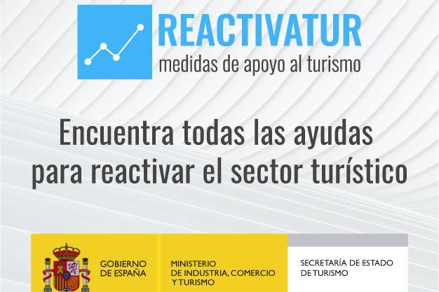 Reactivatur, la nueva web nacional que recoge todas las ayudas disponibles para el turismo.